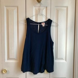 Mossimo Supply Co Size Small Navy Baby Doll Tank